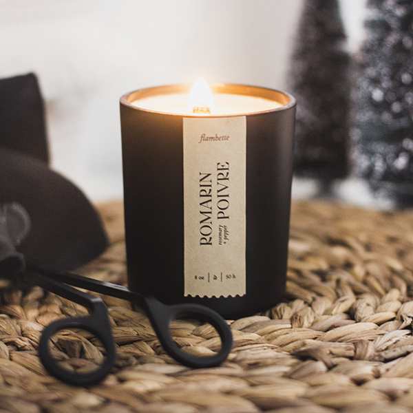 rosemary + pepper candle